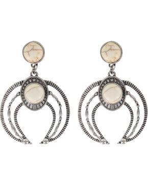 Shyanne® Women's Moonlight Engraved Earrings , Silver, hi-res