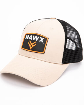 Hawx Men's Khaki Rubber Patch Trucker Cap, Beige/khaki, hi-res