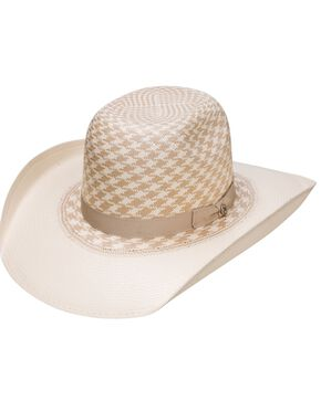 HOOey Resistol Youth Boys' Wesley Tan Pattern Cowboy Hat, Natural, hi-res