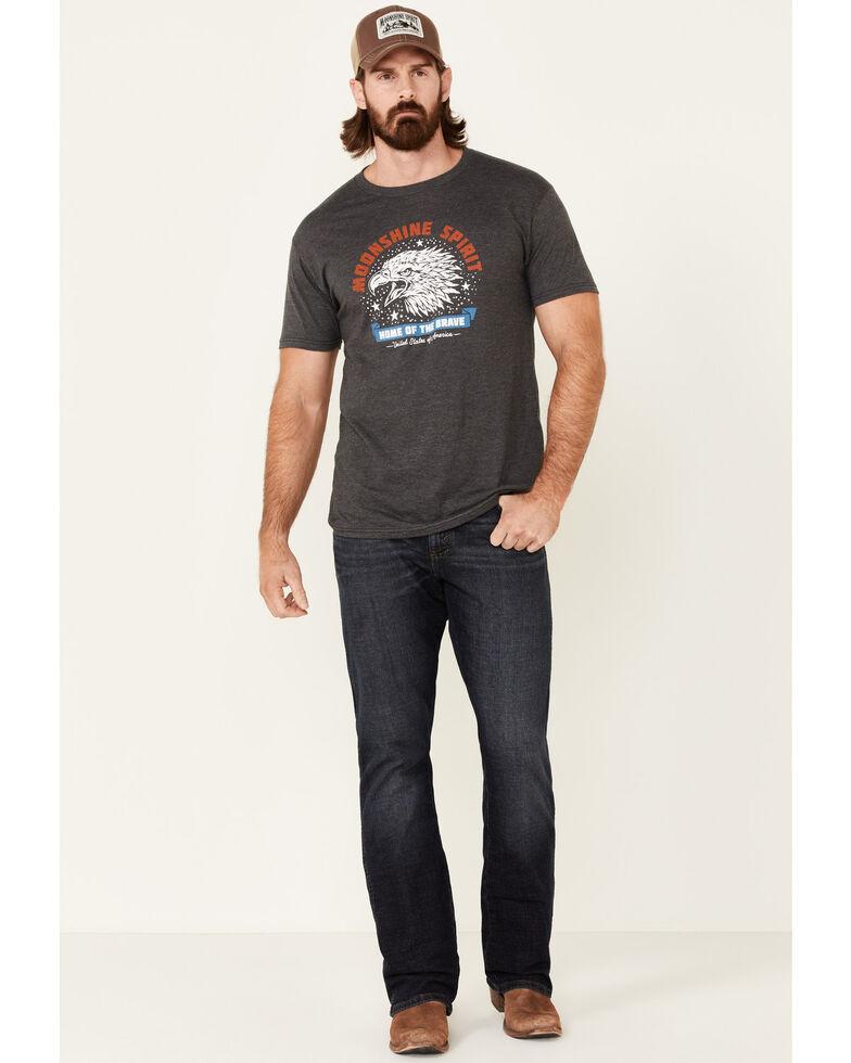Moonshine Spirit Men's Eagle Brave Graphic Short Sleeve T-Shirt , Charcoal, hi-res