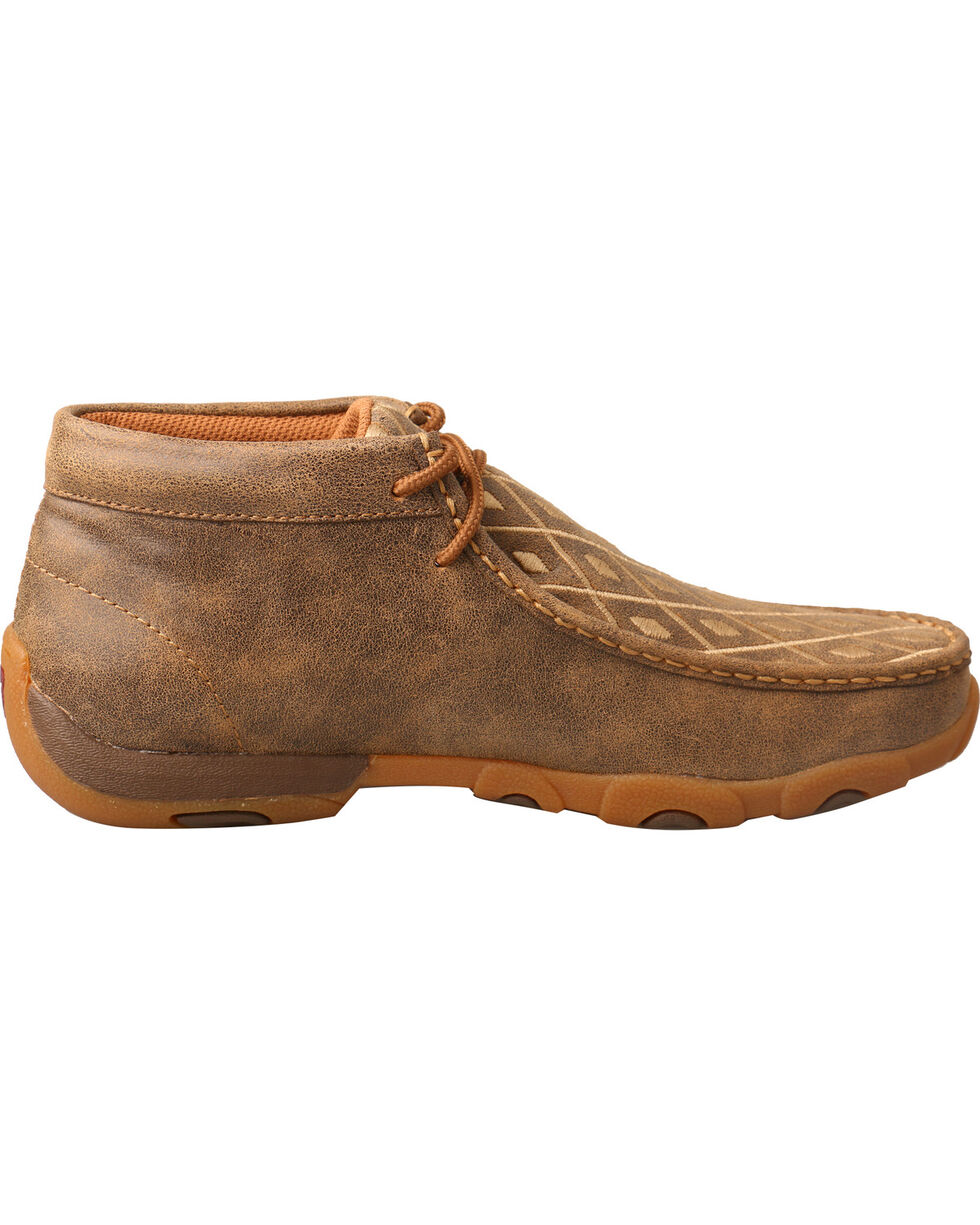 Twisted X Women's Diamond Driving Moc Shoes, Tan, hi-res