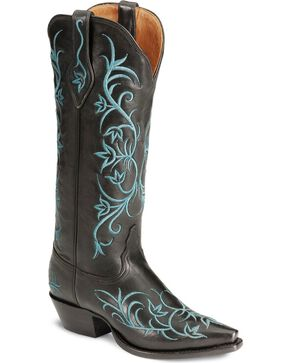 Tony Lama Women's Signature Western Boots, Black, hi-res