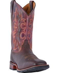 Laredo Men's Durant Cowboy Boots - Square Toe, Dark Brown, hi-res