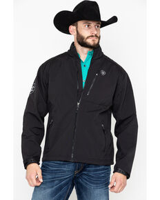 Ariat Men's Black Logo 2.0 Softshell Jacket - Big, Black, hi-res
