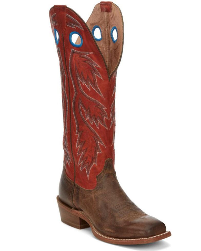 Tony Lama Men's Colburn Western Boots - Wide Square toe, Red, hi-res