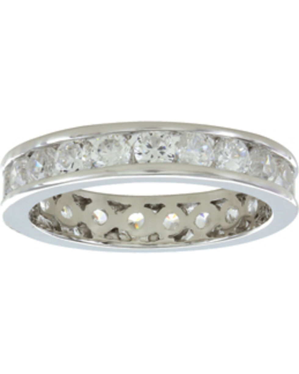 Montana Silversmiths Women's A Path of Star Lights Ring, Silver, hi-res
