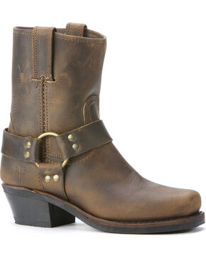 Frye Women's Harness Motorcycle Boots, Brown, hi-res