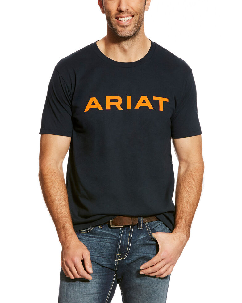 Ariat Men's Navy Branded Logo Graphic T-Shirt , Navy, hi-res