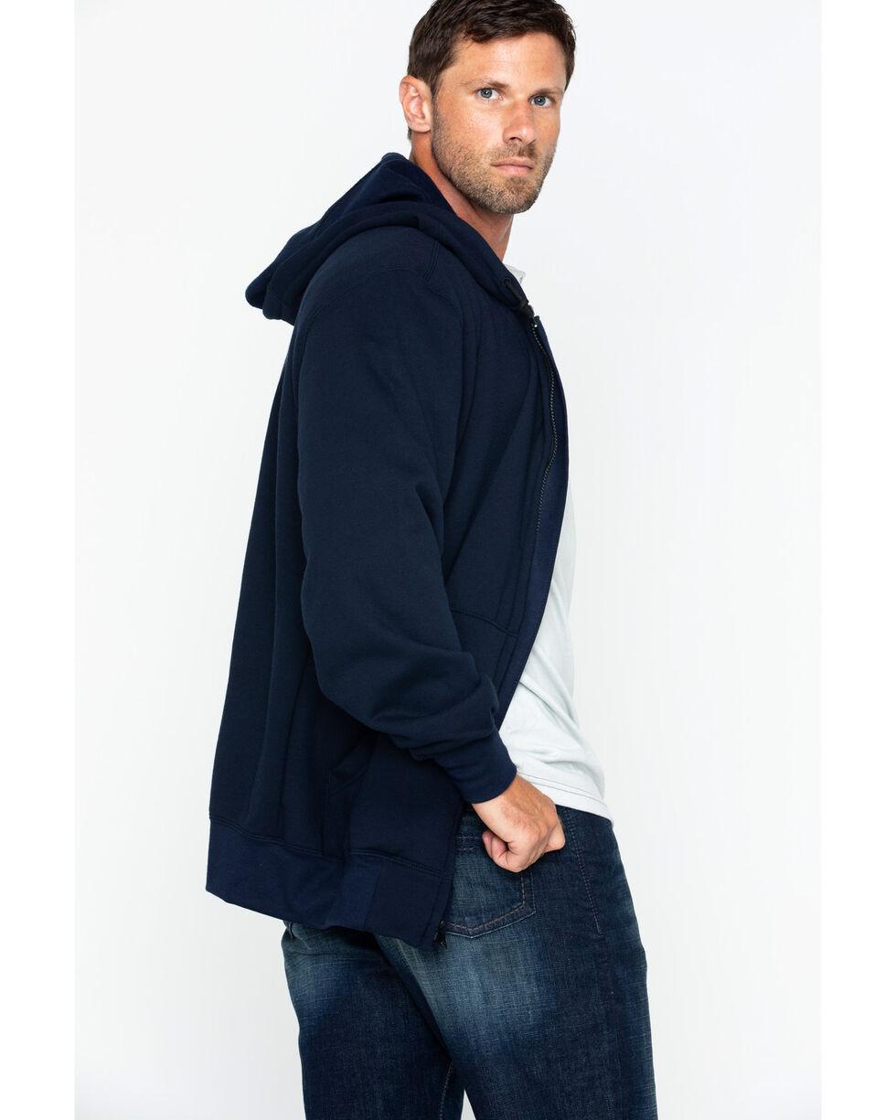 Carhartt Men's Zip-Front Heavyweight Solid Work Sweatshirt , Navy, hi-res