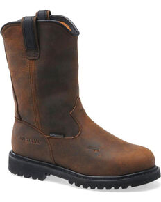 Carolina Men's Aluminum Toe MetGuard Wellington Work Boots, Dark Brown, hi-res