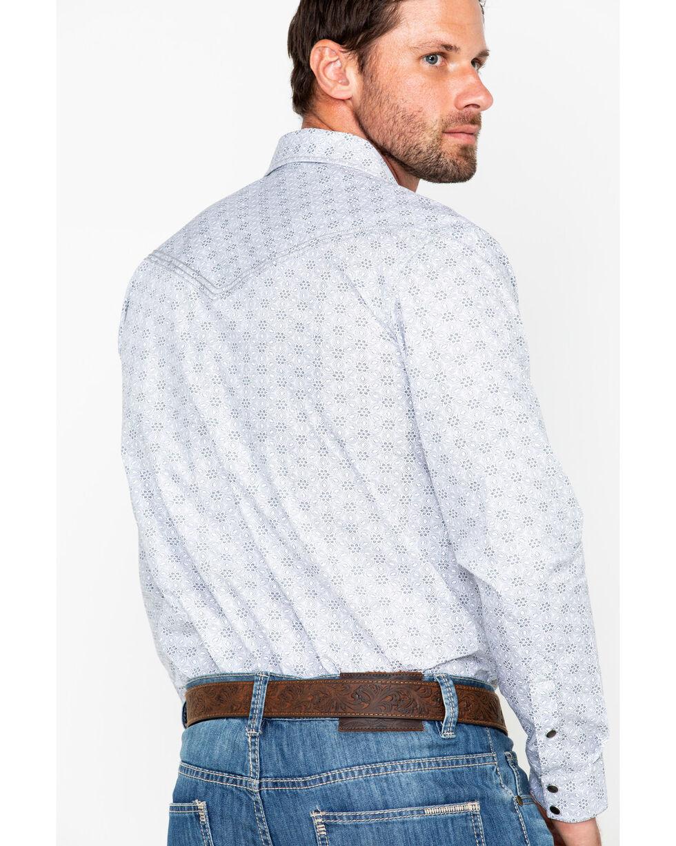 Cody James Men's Geo Print Long Sleeve Western Shirt, Grey, hi-res