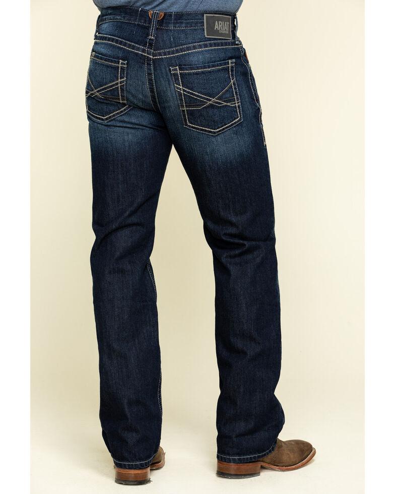 Ariat Men's M5 State Robbie Dark Rigid Stackable Slim Straight Jeans , Indigo, hi-res