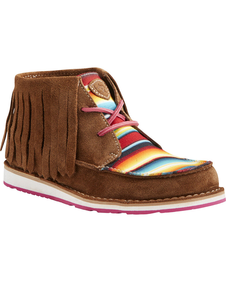 Ariat Women's Fringe Crusier Shoes, Dark Brown, hi-res