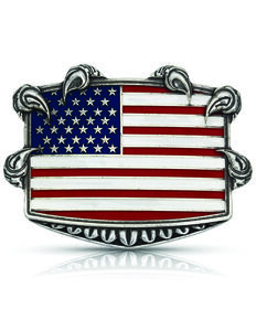 Montana Silversmiths Men's Seizing Freedom Belt Buckle, Multi, hi-res