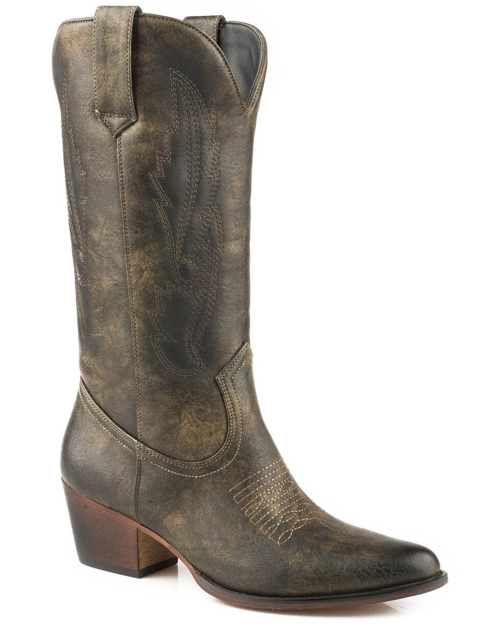 Roper Women's Brown Nettie Western Boots - Round Toe, Brown, hi-res