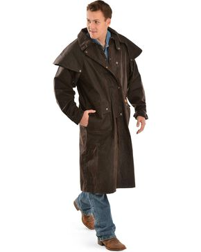 Outback Men's Low Ride Duster Coat, Brown, hi-res