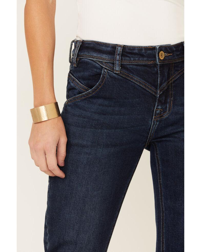 Rock & Roll Denim Women's Riding Bootcut Jeans, Blue, hi-res