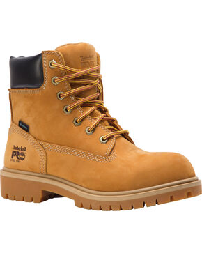 """Timberland Women's Wheat 6"""" Direct Attach Work Boots - Steel Toe , Wheat, hi-res"""