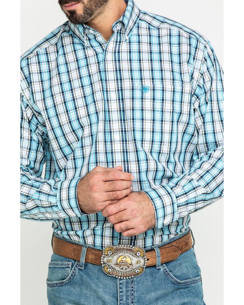 Ariat Men's Wrinkle Free Meadow Plaid Long Sleeve Western Shirt - Tall , Multi, hi-res