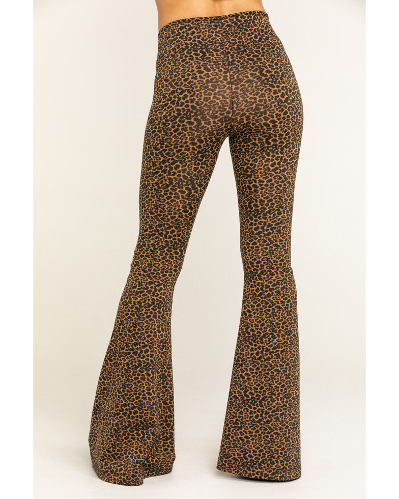 Show Me Your Mumu Women's Nice To Cheetah Stretch Bam Bam Bells, Brown, hi-res