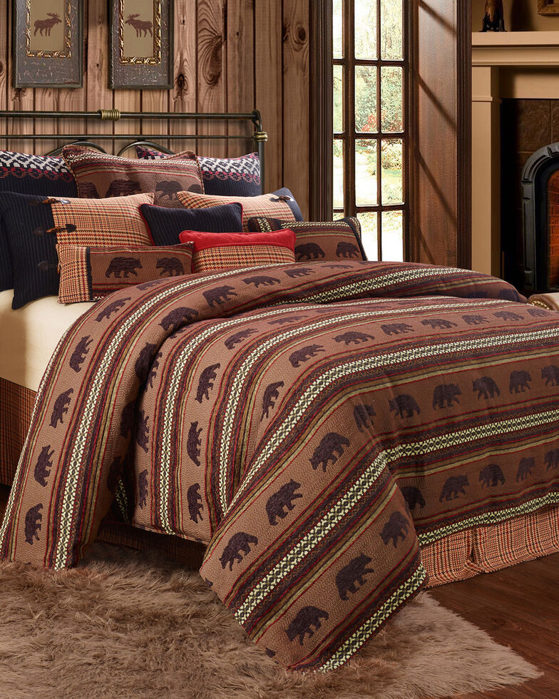 HiEnd Accents Bayfield Bear 5-piece King Duvet Set, Multi, hi-res