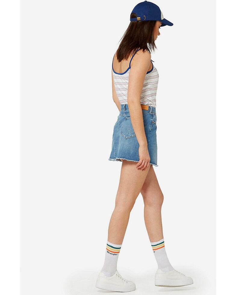 Wrangler Women's 70th Anniversary Cut-Off Mini Skirt, Blue, hi-res