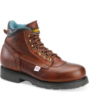 "Carolina Men's Domestic 6"" Work Boots, Lt Brown, hi-res"