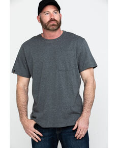 Hawx® Men's Green Pocket Crew Short Sleeve Work T-Shirt - Big , Charcoal, hi-res