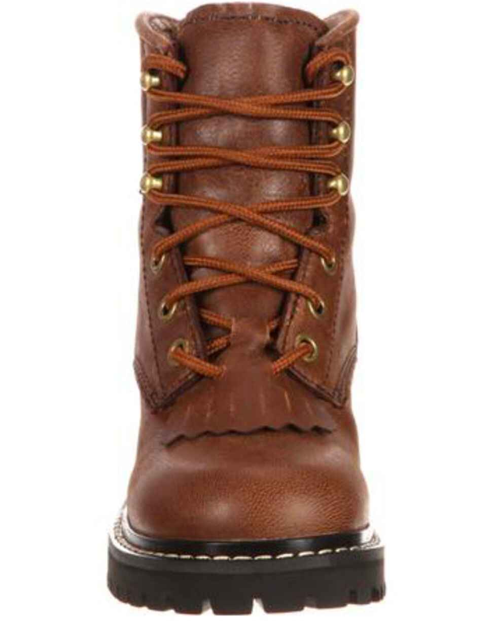 Georgia Boot Little Kids Waterproof Logger Boots - Round Toe, Brown, hi-res