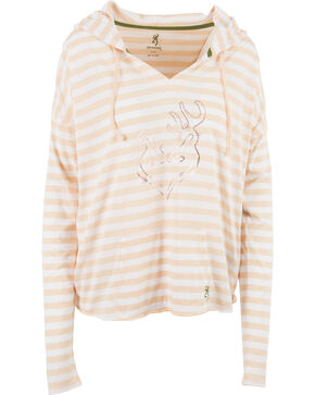 Browning Women's Pink Verbena Hooded Tee , Light Pink, hi-res