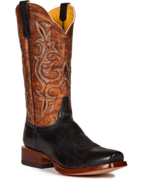 Cinch Men's Galaxias Gold Goat Western Boots - Square Toe, Black, hi-res