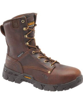 "Carolina Men's 8"" Waterproof Composite Toe Work Boots, Dark Brown, hi-res"