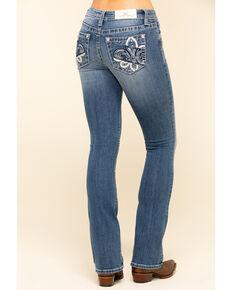 Miss Me Women's Chloe Fluer-De-Lis Bootcut Jeans, Blue, hi-res