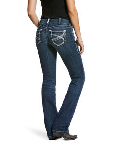 Ariat Women's R.E.A.L. Dresden Ivy Stackable Straight Jeans- Plus, Blue, hi-res