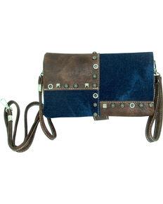 Savana Women's Patchwork Design Crossbody Bag, Blue, hi-res