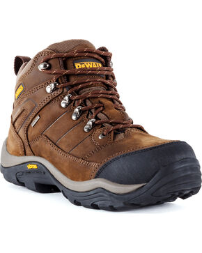 DeWalt Men's Neon Hybrid Waterproof Boots - Steel Toe, Brown, hi-res