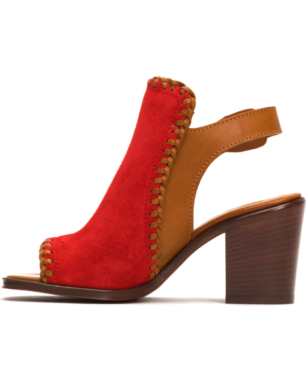 Frye Women's Charlize Shield Shoes - Square Toe , Dark Brown, hi-res
