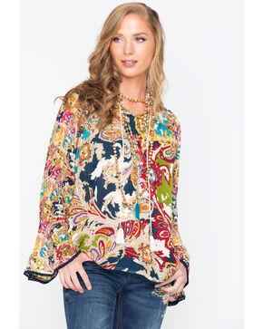 New Direction Sport Women's Paisley Long Sleeve Shirt, Multi, hi-res