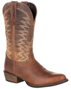 Durango Men's Rebel Frontier Western Boots - Round Toe, Brown, hi-res