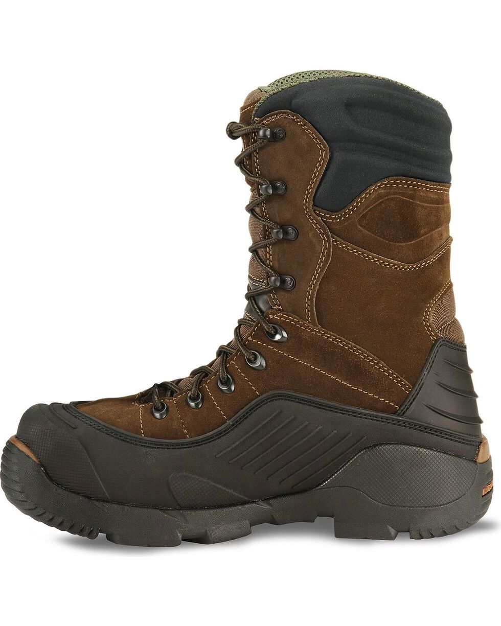 Rocky Men's Steel Toe Blizzard Stalker Work Boots, Brown, hi-res
