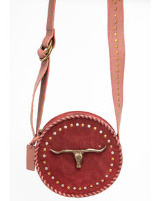 Idyllwind Women's Round And Round We Go Crossbody Bag, Burgundy, hi-res
