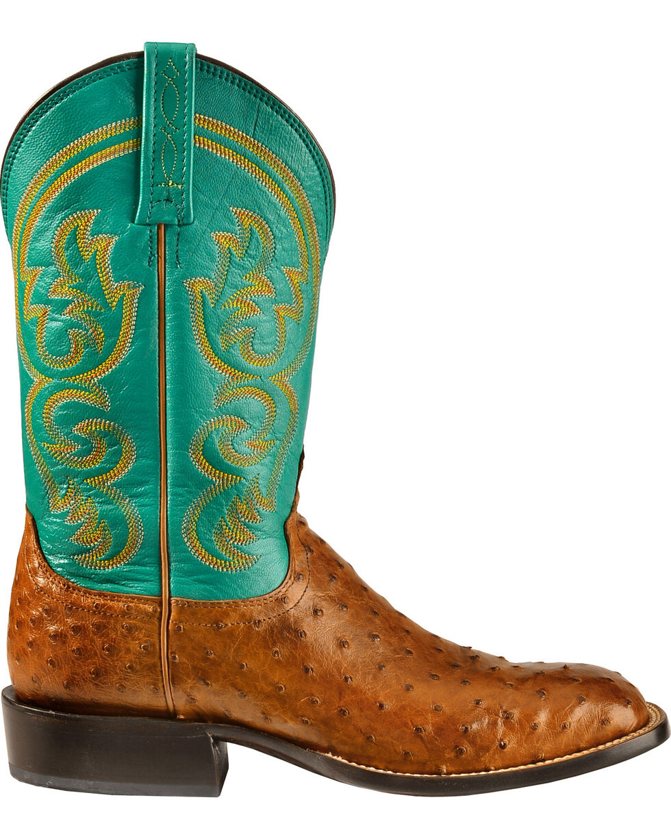 Lucchese Men's Josiah Full Quill Ostrich Western Boots, Tan, hi-res