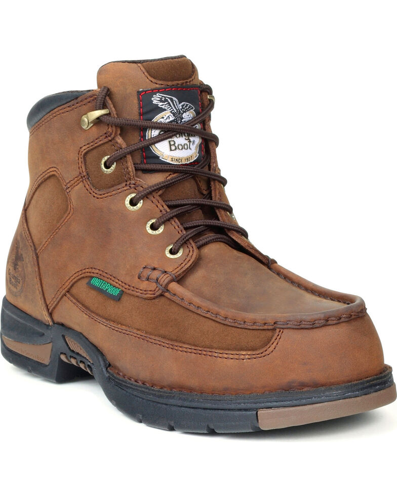 Georgia Men's Steel Toe Waterproof Athens Work Boots, Brown, hi-res