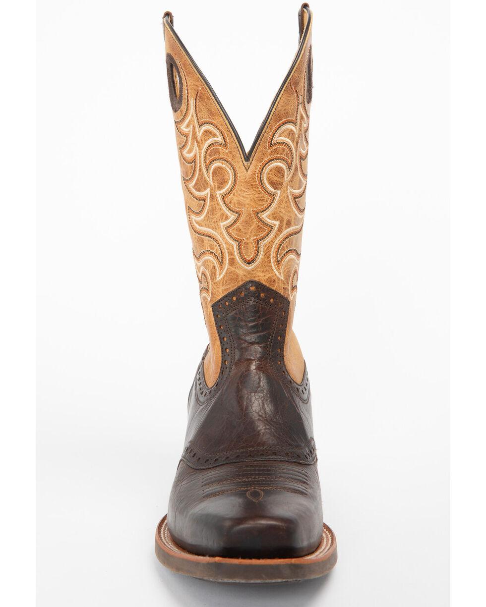 Moonshine Spirit Men's Eastwood Western Boots - Square Toe, Brown, hi-res