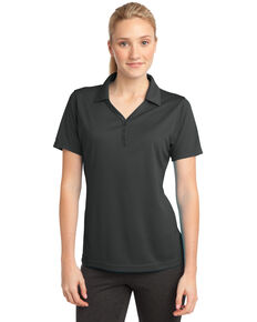 Sport-Tek Women's Iron Grey 2X PosiCharge Micro-Mesh Polo - Plus, Grey, hi-res