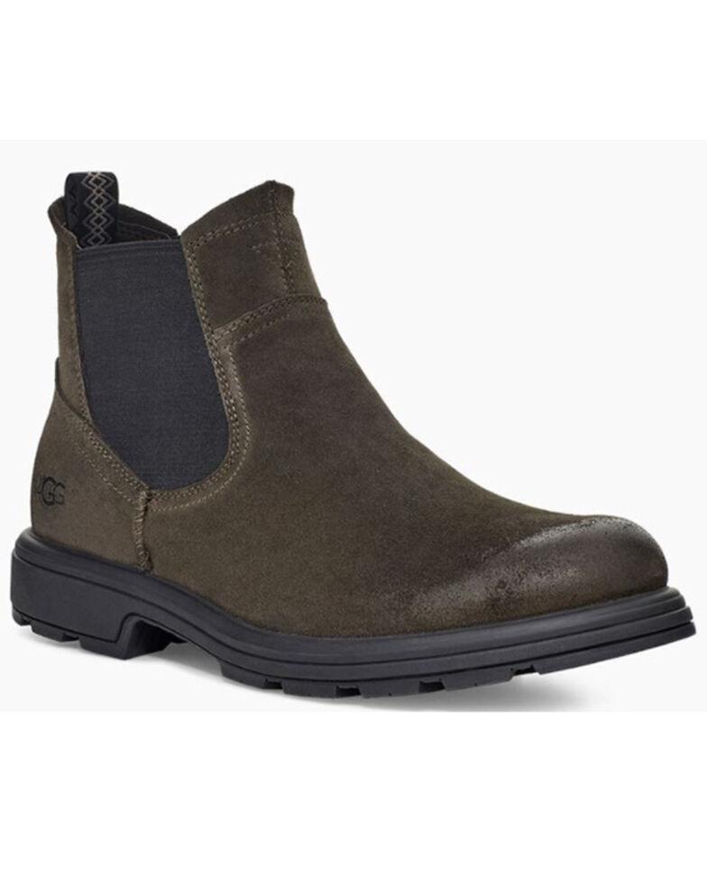 UGG Men's Olive Suede Pull-On Chukka Boots - Moc Toe, Olive, hi-res