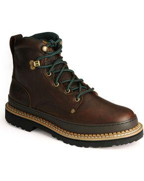 Georgia Men's Georgia Giant Steel Toe Work Boots, Brown, hi-res