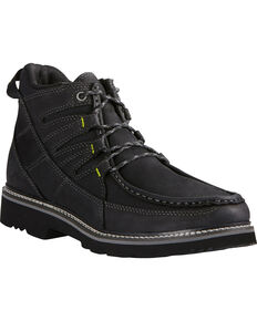 Ariat Men's Exhibitor Moc Toe Shoes, Black, hi-res