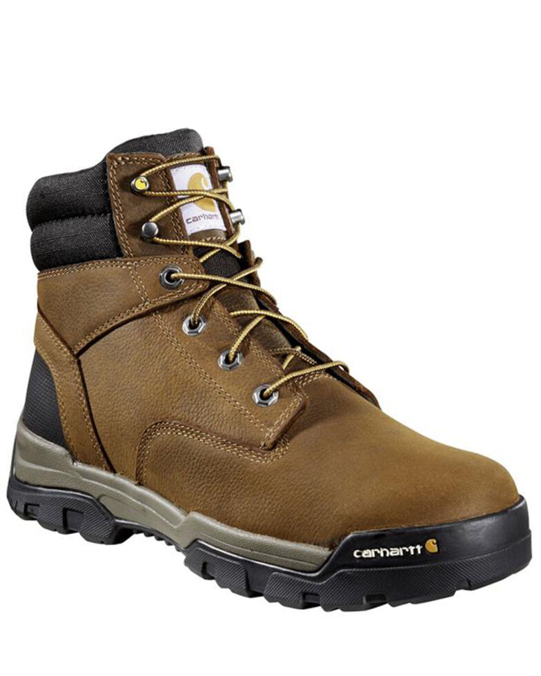 Carhartt Men's Ground Force Waterproof Work Boots - Composite Toe, Brown, hi-res