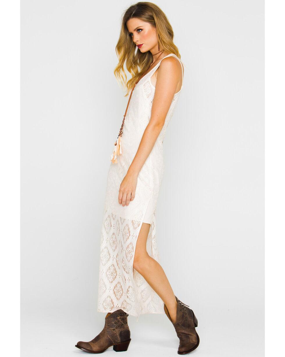 Shyanne Women's Lace Maxi Dress, Tan, hi-res